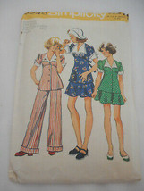 Vintage 70s Girls Plus Size Chubbie 12.5 14.5 Simplicity cut pattern 6245 - $9.89