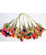 Lot 10 pom pom handmade tassels for jewels rakhi decor making craft item... - $17.46