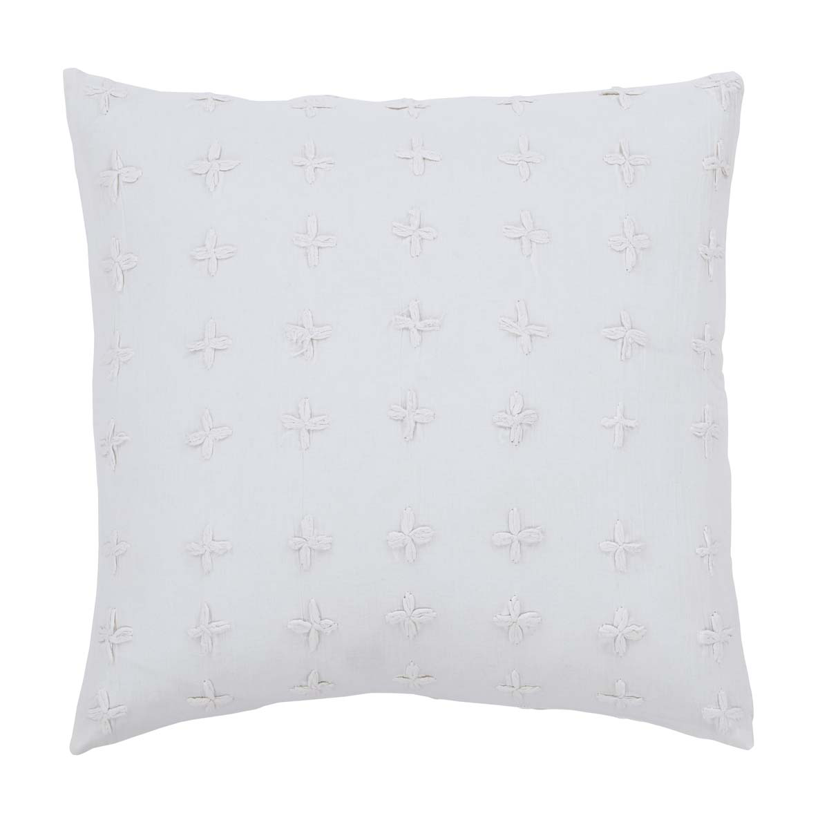"Willow White Pillow w/Down Fill- 18""x18"" - VHC Brands - Farmhouse Ranch Style"