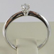White Gold Ring 750 18K, Solitaire, Stems to Tip, Diamond, Carat 0.10 image 4