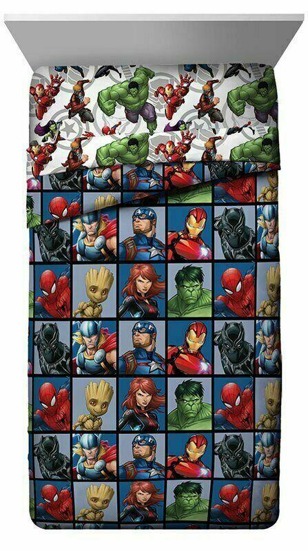 Marvel Avengers Team Full Size Bed Comforter 76in x 86in