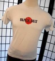 Black Belt Magazine Screen Stars thin retro 50/50 tee shirt large USA - $19.95