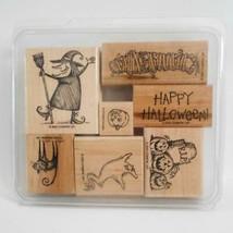 Stampin Up Spooktacular Greetings 7 Stamp Set Halloween Theme 2000 - $19.79