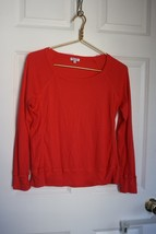 Splendid S Coral Pink Open Neck Long Sleeve Seamed Tee Shirt Top ST9684 - $27.72