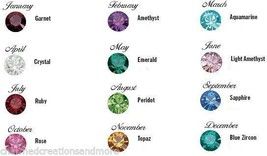 25 Bag Lot x 12 4mm Birthstone Floating Charms Fits Glass Memory Locket Necklace - $24.50
