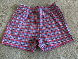Carters Boys Red White Blue Plaid Shorts 6 Months - $5.00