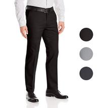 Boltini Italy Men's Flat Front Slim Fit Slacks Trousers Dress Pants