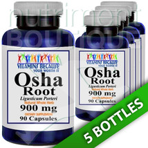 Osha Root 900mg 5X90 Caps Vitamins Because - $54.40