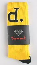 Diamond Supply Co. Bright Yellow Black Un-Polo Crew Socks NEW image 2