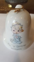 May Your Christmas Be Delightful Enesco. Precious Moment Bell by Samuel... - $15.00