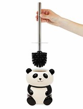 Isaac Jacobs Black and White Ceramic Panda Toilet Bowl Brush Holder with... - $37.46