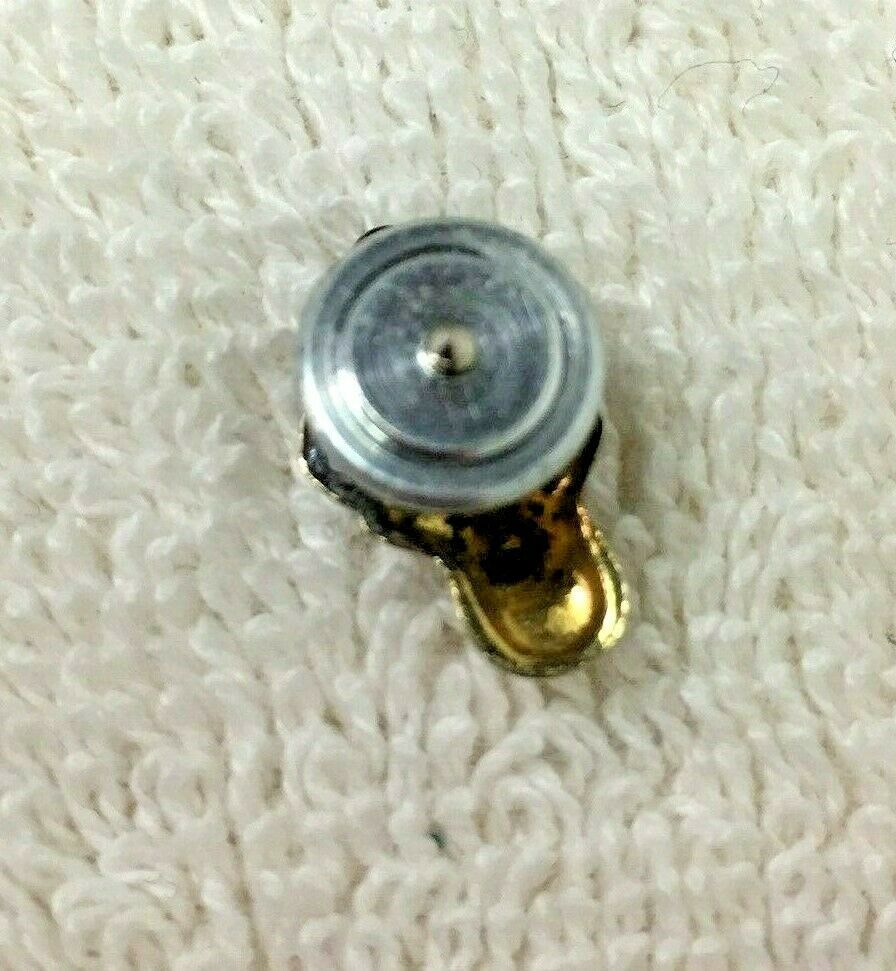 Vintage BPOE Elk Enamel Clock Ruby Eyes Pin Silver & Gold 1/2 In Screw Back T55 image 2