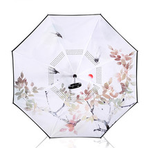 1PCS Chinese Style Umbrellas Color Printing Double Reverse Umbrella Long... - $26.44