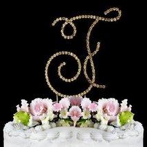 RENAISSANCE MONOGRAM CAKE TOPPER GOLD LARGE LETTER F - $26.33