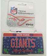 """NY GIANTS - NFL TEAM 4"""" METAL ORNAMENT - NEW  ***(PACK OF 12)*** - $19.59"""