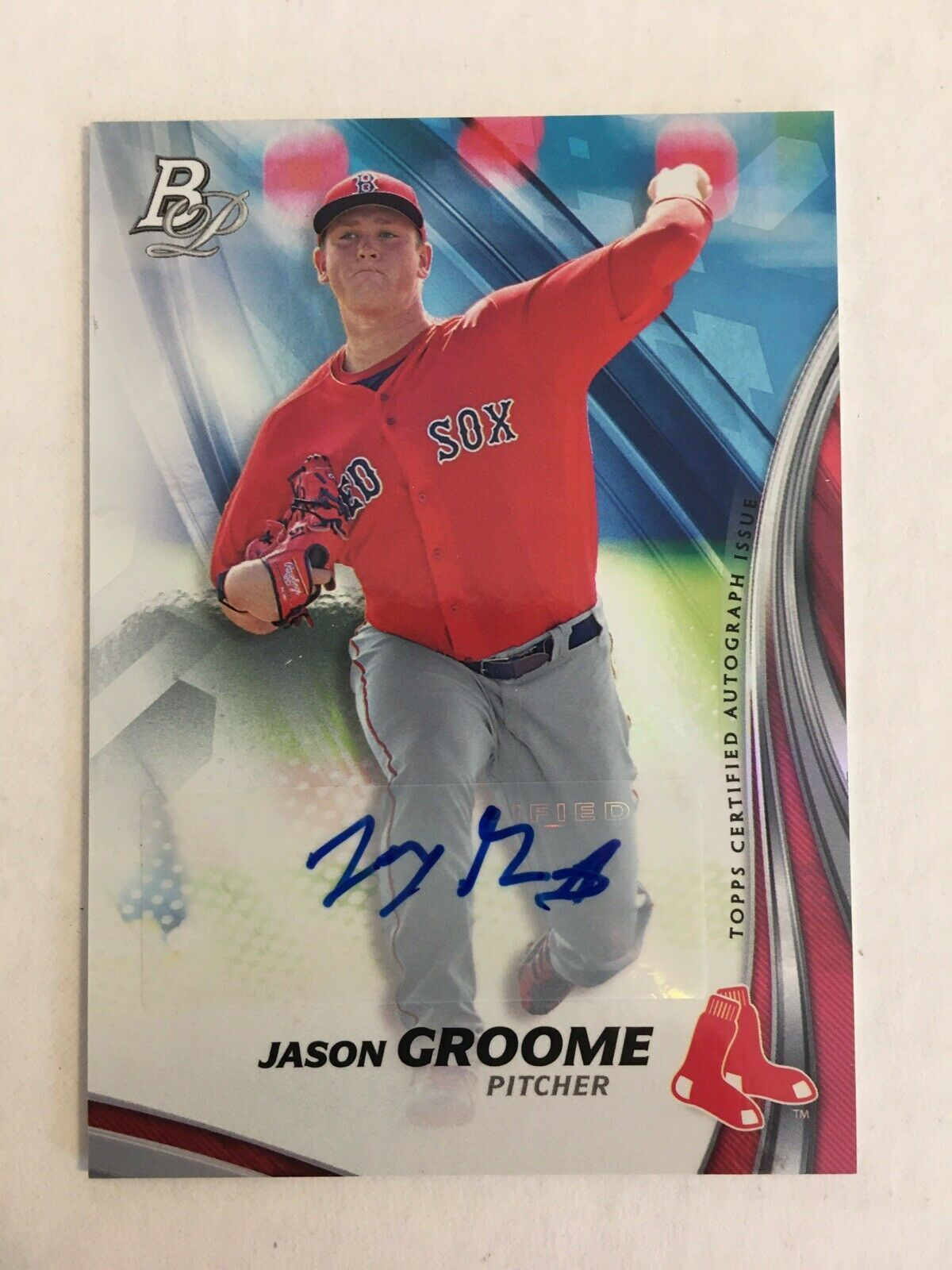 Primary image for 2017 Bowman Platinum Jason Groome TPA-JG Baseball Card Auto Boston Red Sox