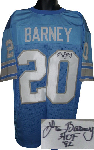 Primary image for Lem Barney signed Blue TB Custom Stitched Pro Style Football Jersey HOF 92 XL- J
