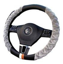 Fashion Car Steering Wheel Cover Plush Anti-Skid Handlebar Set,Black