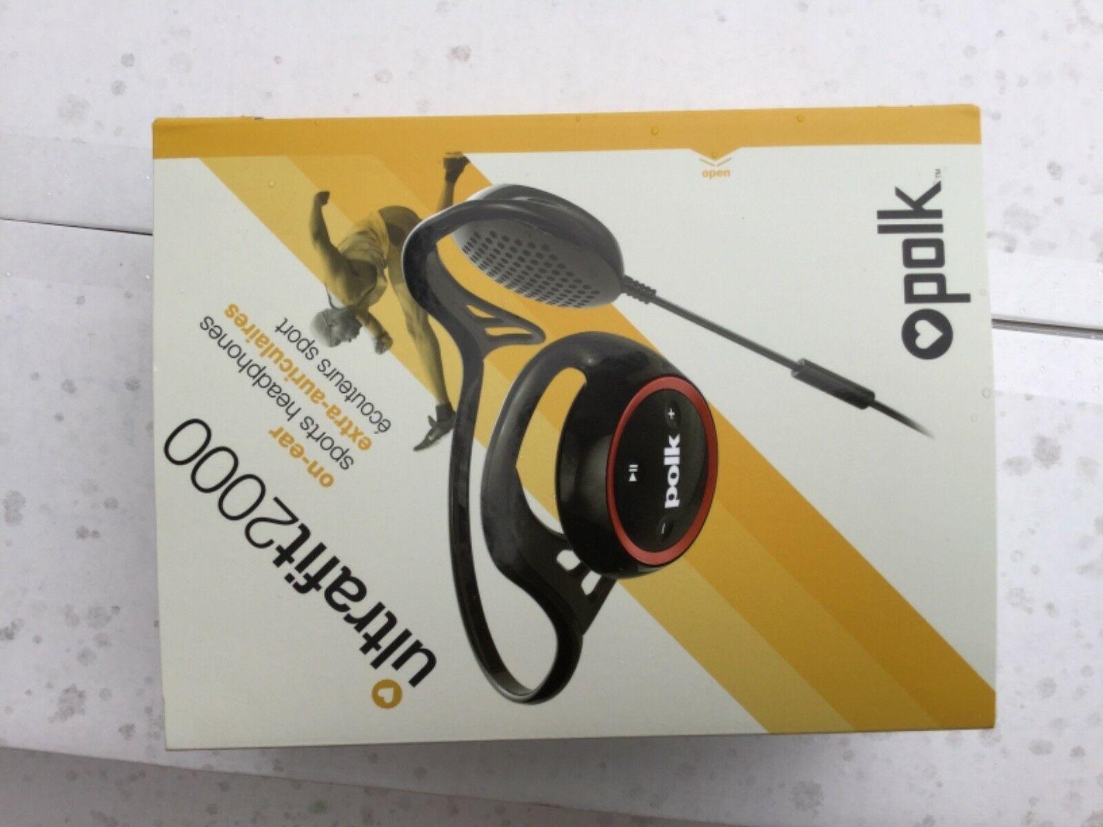 Polk Audio UltraFit 2000 sports headphones (Black/Red) image 11