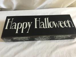Classic Halloween Decor Mantle Table Spiderweb Decoration Sign/Plaque - $18.71