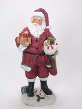 "9.5"" Traditional Santa Claus Figurine with Toy Sack & Presents Christmas... - $15.79"