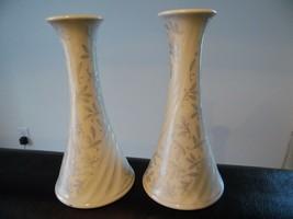 Lenox Wedding Promises Candle Holder Pair USA Excellent Porcelain Retired - $35.77