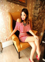 PF259 sexy cute off-shoulder mini dress, ways of wearing, size S-L, red - $18.80