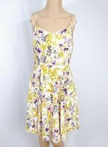 Old Navy Floral Fit & Flare Slip Sundress S Ivory Gold Purple Skater Fem... - €8,39 EUR