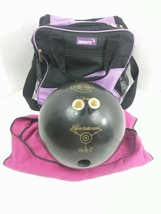bowling ball Ebonite Gyro Balanced Black 12lbs With Bag Cover Sport Time - $16.82