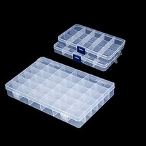 Snowkingdom Plastic Grid Box Storage Organizer Case for Display Collecti... - $13.36