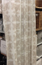 Pottery Barn Aiden Medallion Drape 50x84L Neutral Pole Pocket Curtain Ju... - $50.22