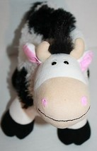 "Animal Alley COW 12"" Black White Plush Stuffed Animal Toy Stands Soft To... - $14.47"