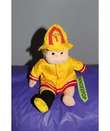 Ty Beanie Kids Fireman Firefighter Outfit Boomer 1999 Stuffed Toy Doll - $12.86