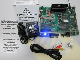 Atari 7800 Refurbished + MODs OS NTSC | PAL Replacement Kit w\PSU ID: #SEP01 - $210.95