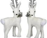 Darice Christmas Deer Figurine: White, 6.3 x 11.81 inches, Priced individually w