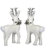 Darice Christmas Deer Figurine: White, 6.3 x 11.81 inches, Priced indivi... - $17.99