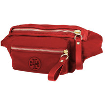 Tory Burch Womens Brilliant Red Nylon Belted Fanny Pack Waist Side Bag 8... - $196.52