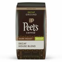 Peet's Coffee Decaf House Blend Dark Roast Ground 18OZ - $17.95
