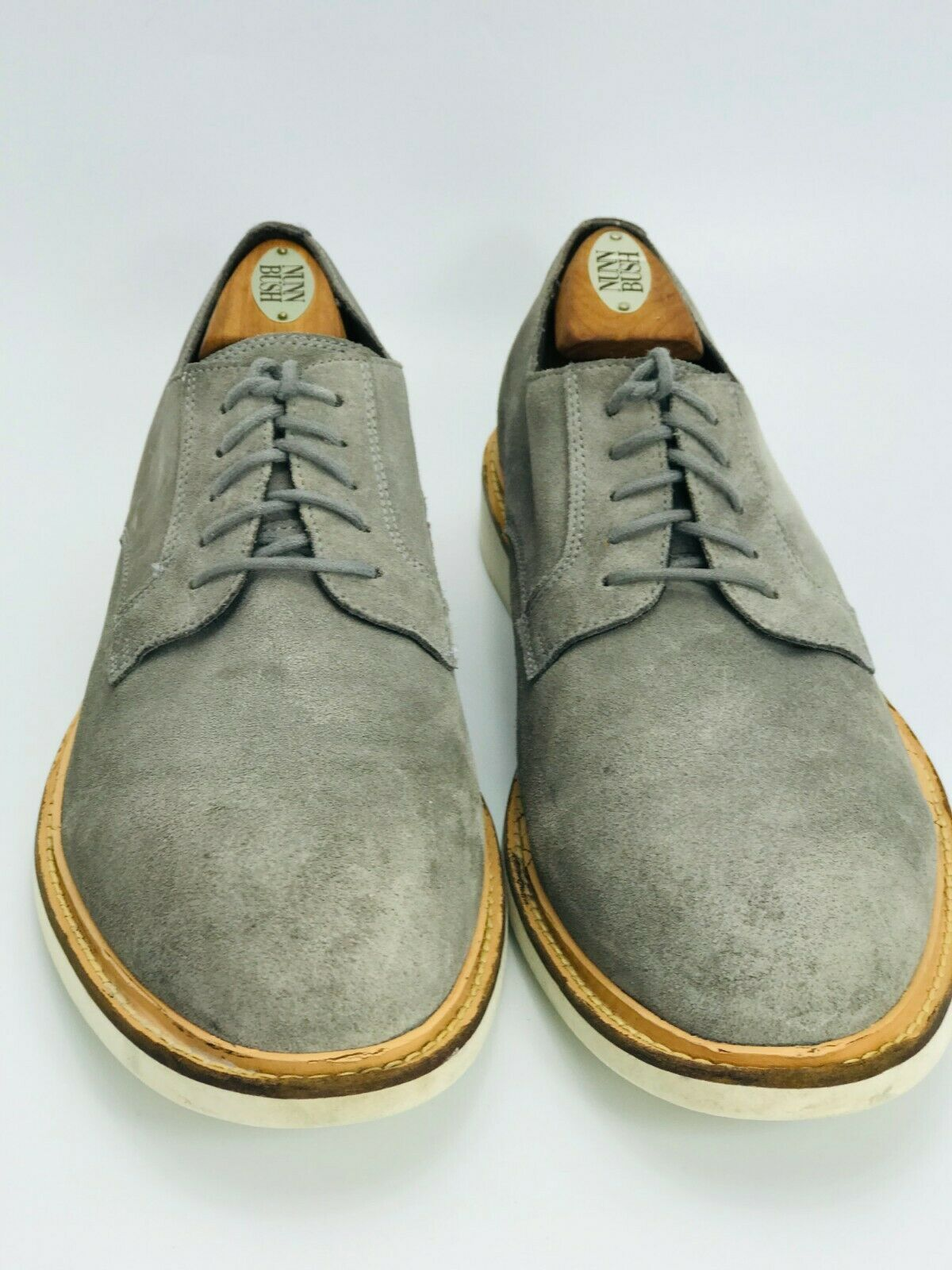 Cole Haan Men's Great Jones Plain Oxford Gray Suede Size 10.5D