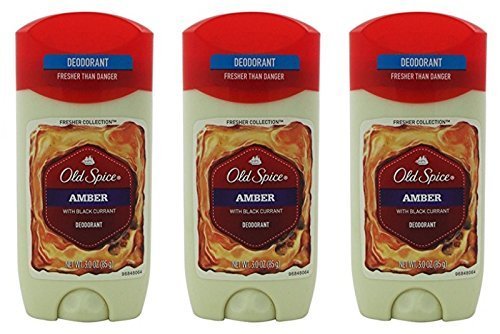 Old Spice Amber Fresher Collection Invisible Solid Men's Deodorant 3 Oz Pack of