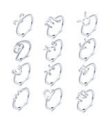 Fashion New Metal 12 Constellation Zodiac Sign Finger Rings Set For Wome... - ₹655.52 INR