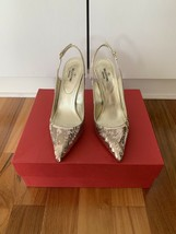 Valentino $1095 Sequined Metallic Slingback Pumps in Size 38--7.5-8 US.! NIB.! - $371.25