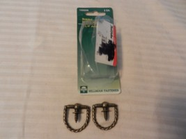 """Hillman Braided Ring Hanger 1.25"""" Antique Brass Package of 2 #122224 - $3.95"""