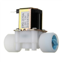 "Plastic Electric 12V Water Solenoid Valve DC 3/4"" N/C Normally Closed Inlet Flow - $15.95"