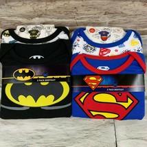 4 Bodysuits Size 18 Months DC Comics Batman and Superman New - $16.46