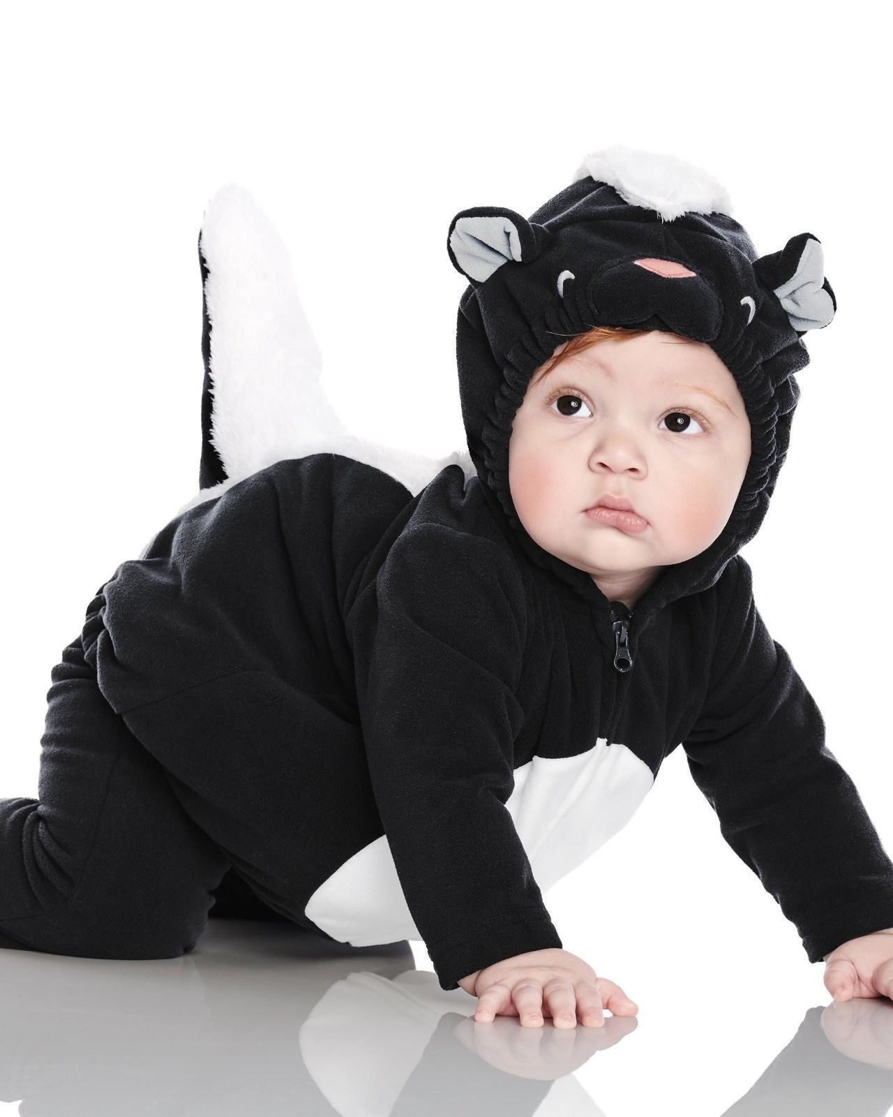 NEW NWT Boys or Girls Carter's Halloween Costume Skunk 3/6 or 6/9 Months