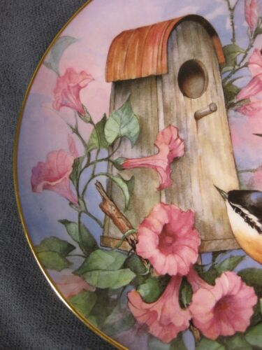 Royal Doulton Nuthatch Nook Collector Plate Carolyn Shores Wright Franklin Mint image 2