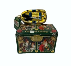 Old World Christmas Fisherman Collection Glass Blown Ornament Raft NWT - $24.72