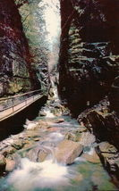 Vintage The Flume Gorge Franconia Notch White Mountains New Hampshire - $3.99