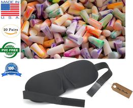 Ear Plugs w Sleep Mask Sleeping Travel Accessories Plane Train Car Vacat... - $15.99